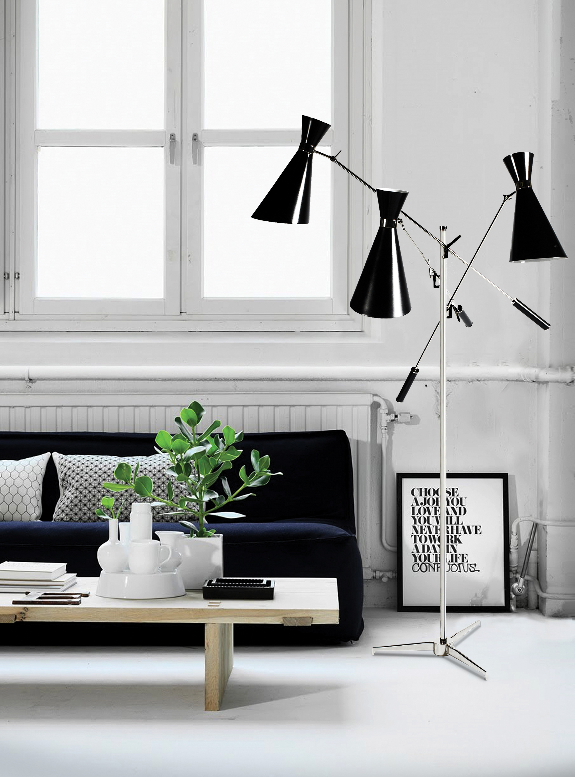 Black Floor Lamps That Will Shine In Your Mid Century Modern Home 2