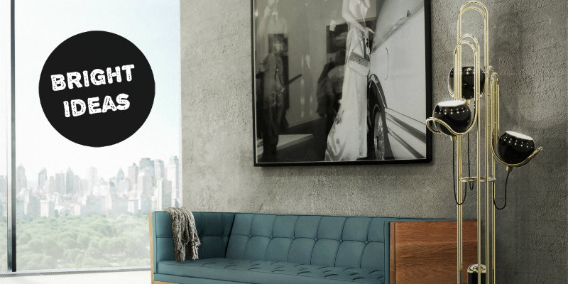 Bright Ideas Modern Floor Lamp Inspired in The Golden Years of Space FEAT