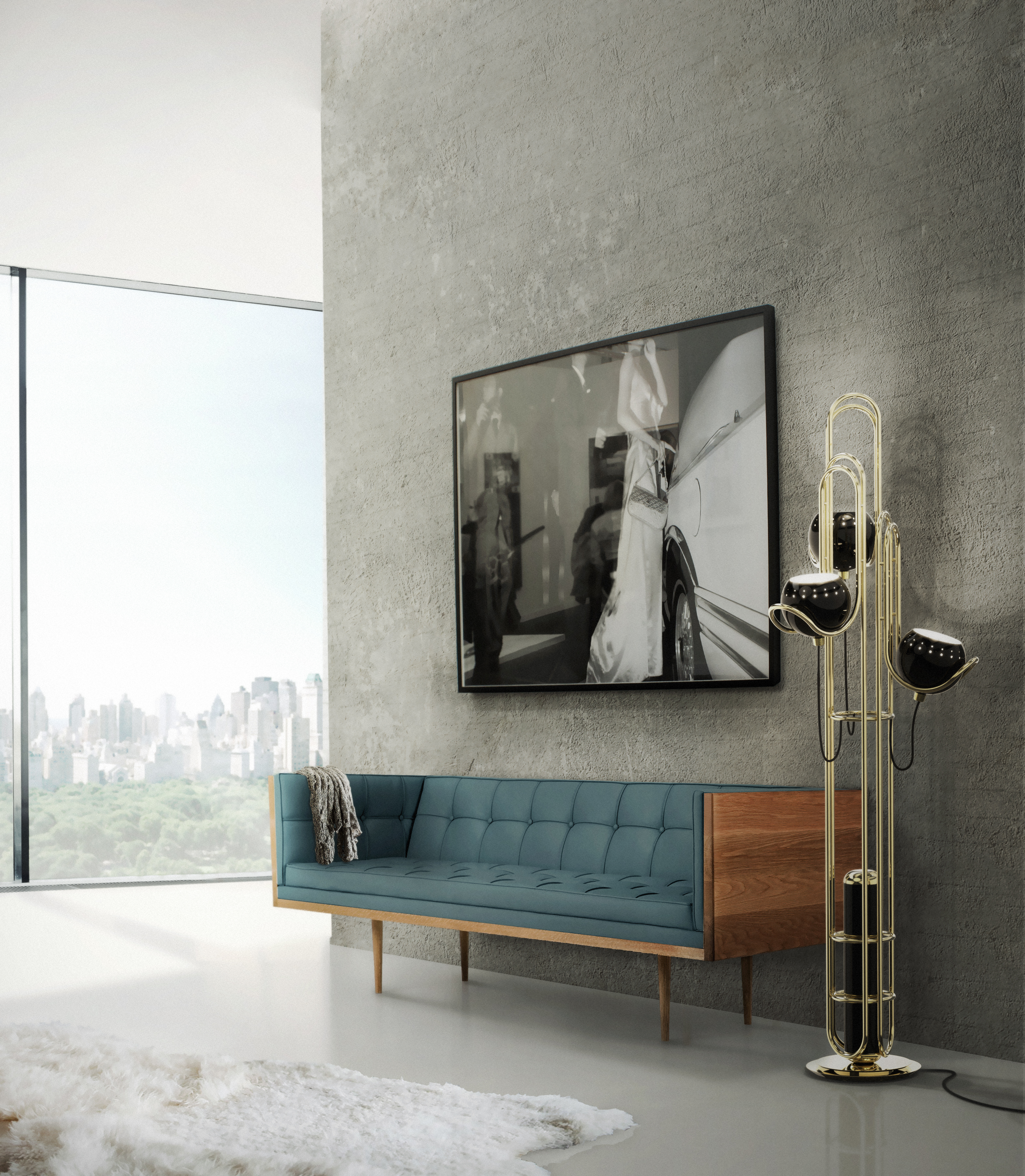 Bright Ideas Modern Floor Lamp Inspired in The Golden Years of Space 2