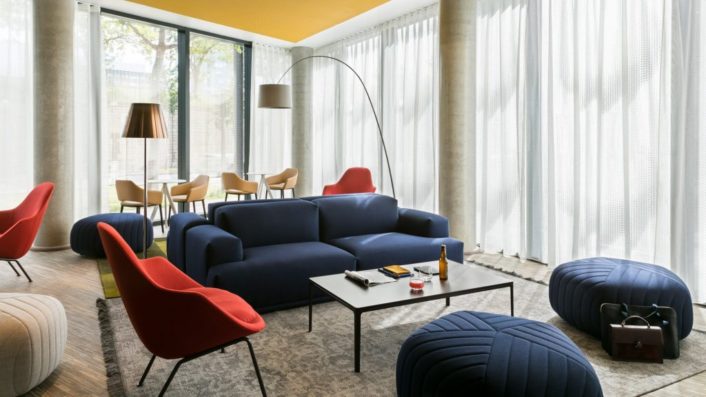 colorful okko hotel features stunning mid century lighting designs