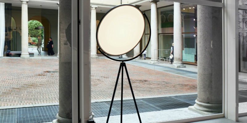 Floor Lamps Essentials Flat Disc Superloon Lamp for Flos FEAT
