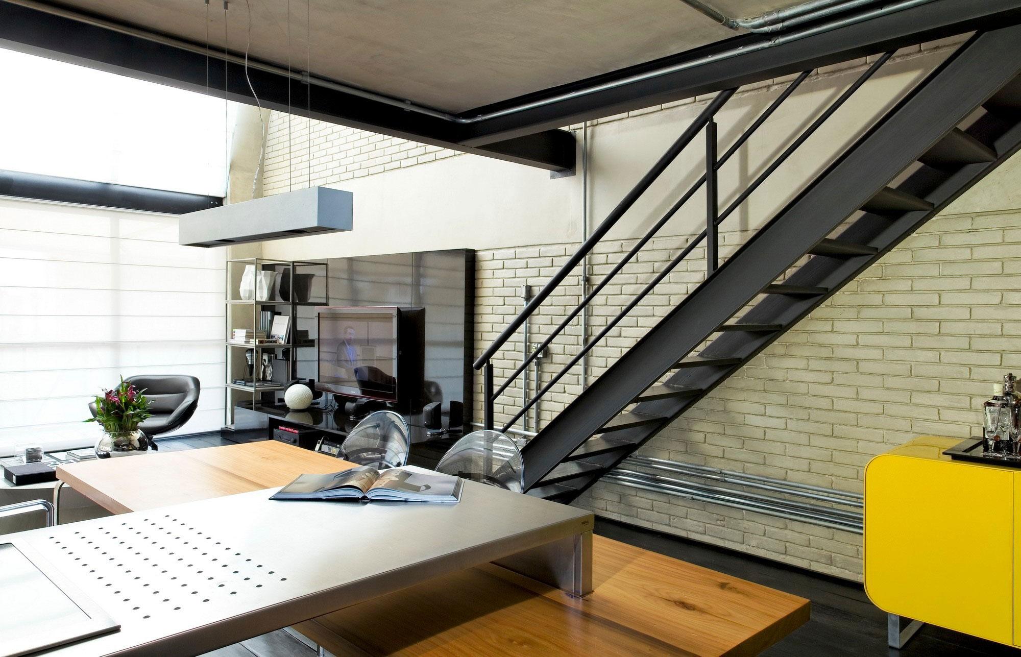 Industrial Loft in Sao Paulo Features Dazzling Arc Floor Lamp 1
