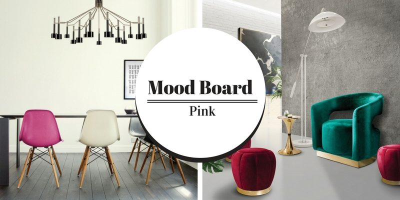 Mood Board Be Bold and Use Pink Shade in Your Modern Home Decor 2