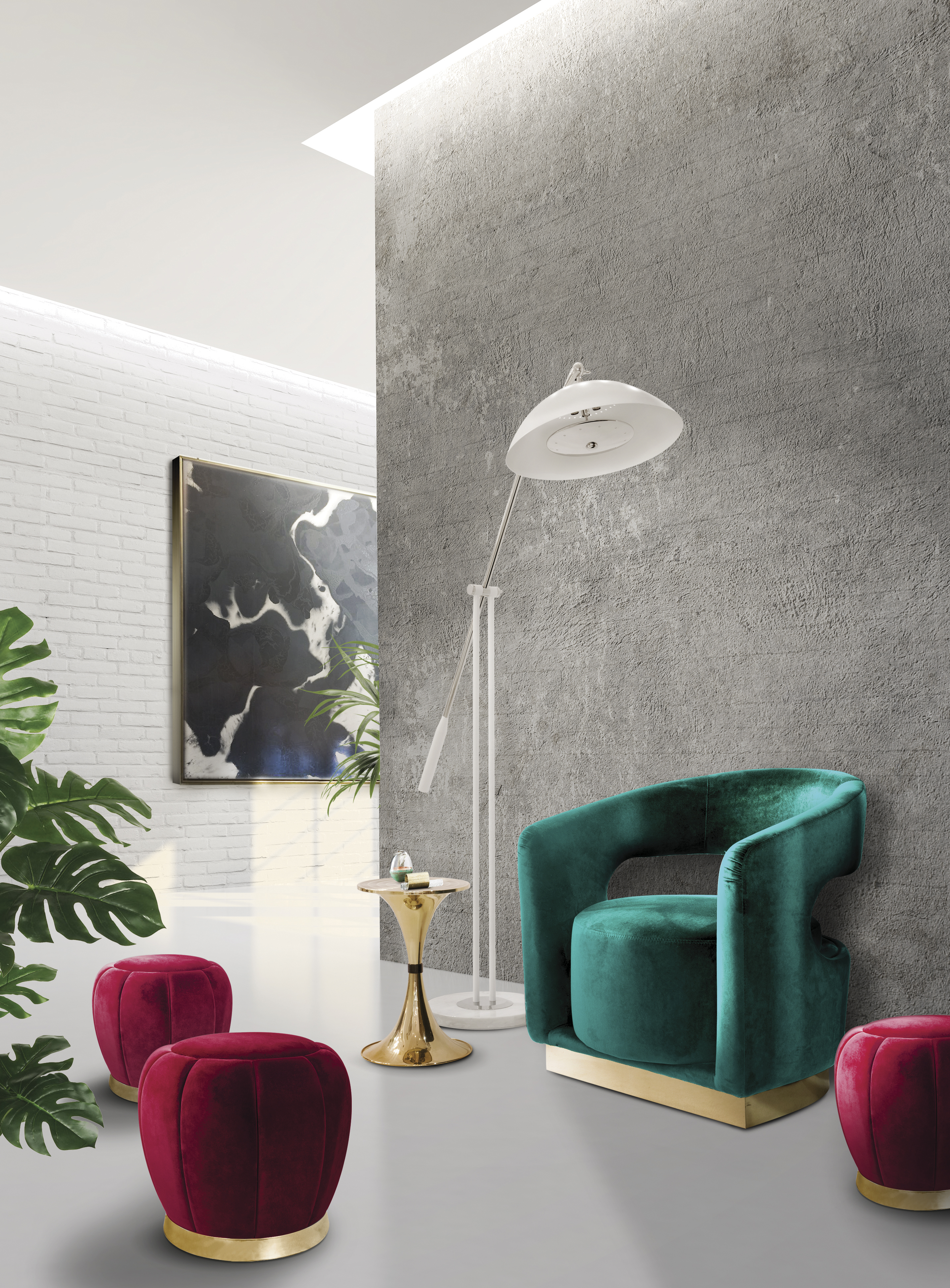 Mood Board Be Bold and Use Pink Shade in Your Modern Home Decor