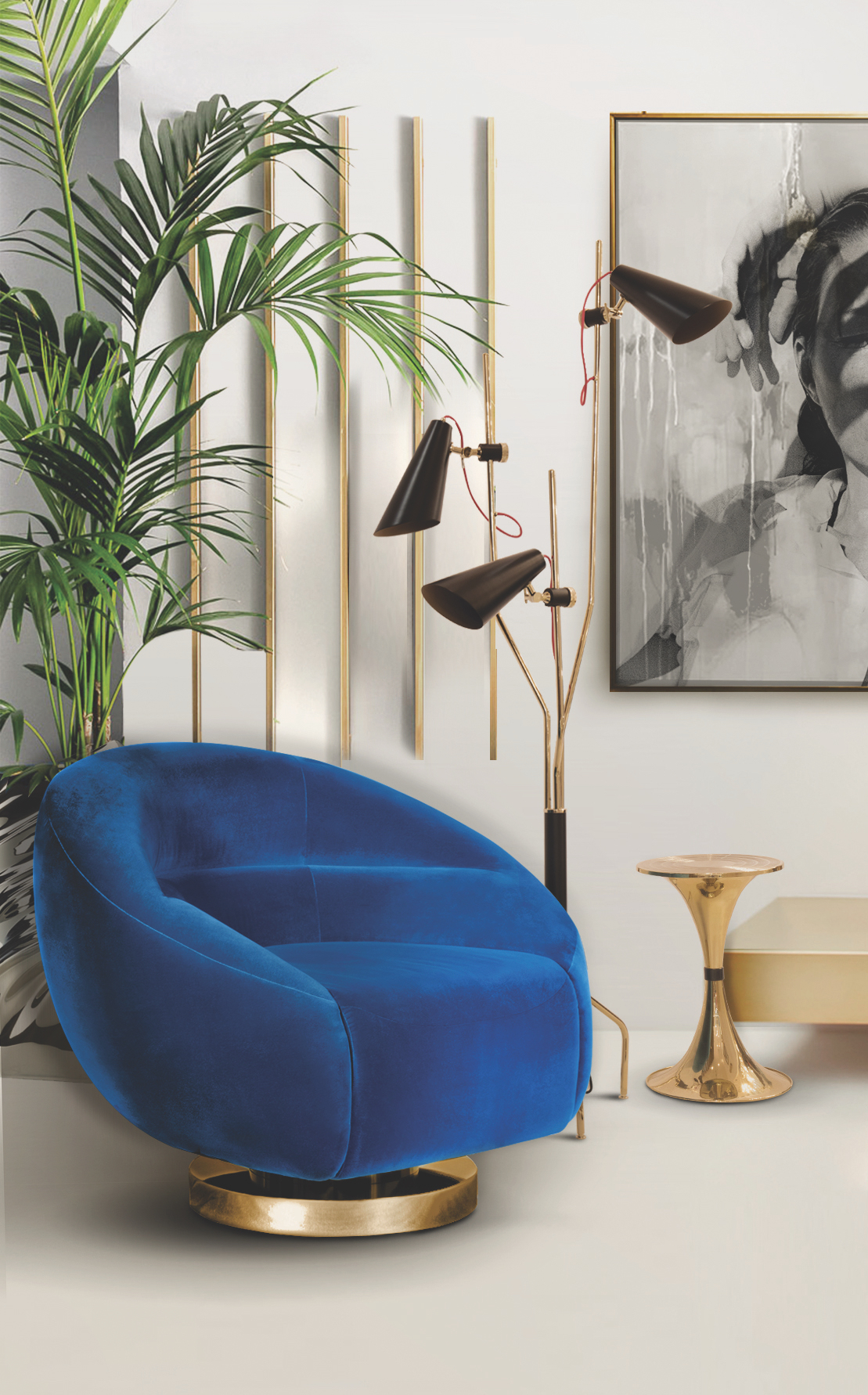 A Match Made in Heaven Reading Chairs & Modern Floor Lamps