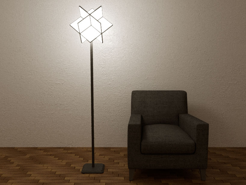 Floor Lamps Essentials A Square Lamp by Jerry Cao 1