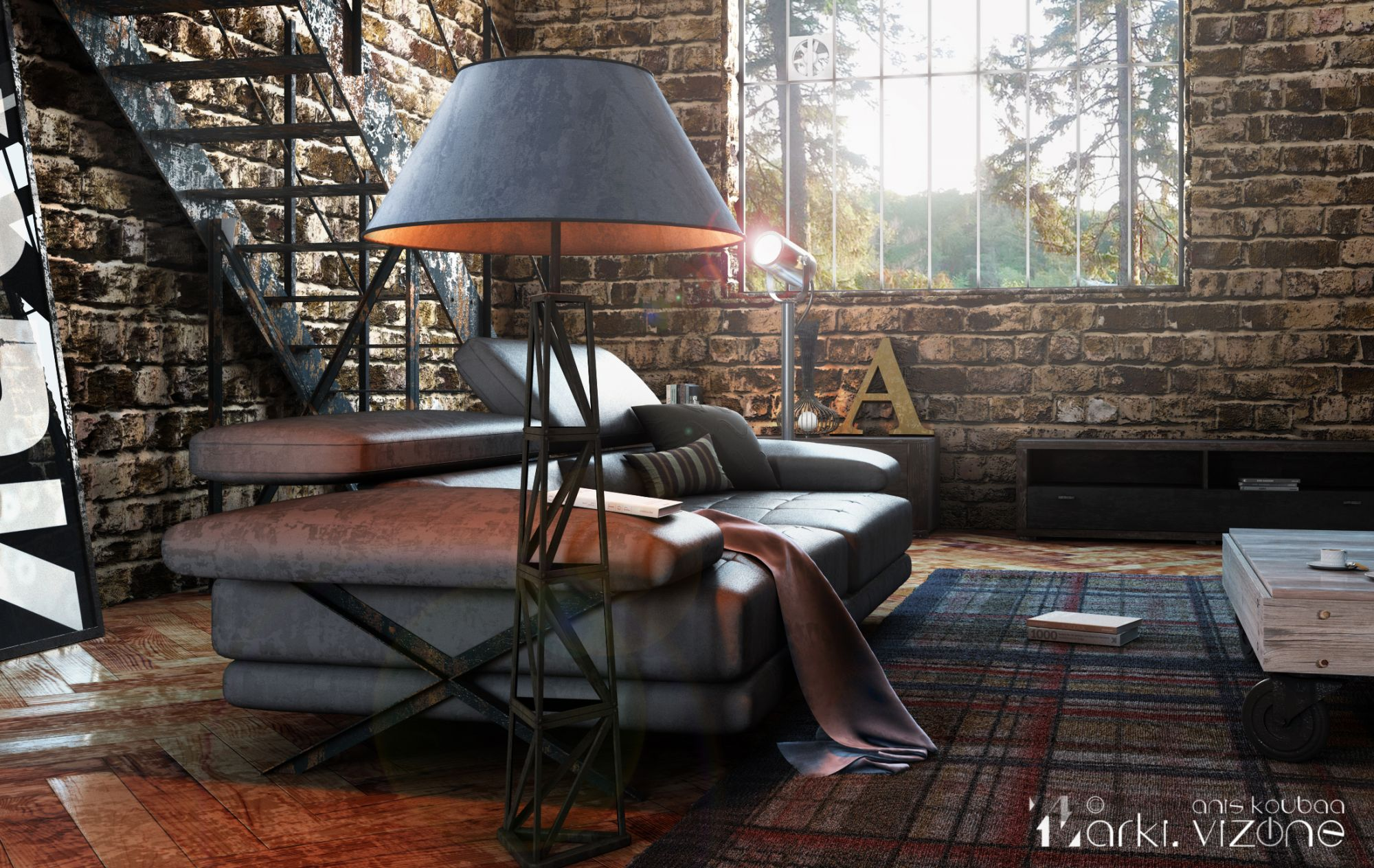 How modern floor lamps can brighten up your industrial loft - Contemporary floor lamps for your modern style at house ...
