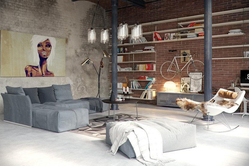 How Modern Floor Lamps Can Brighten Up Your Industrial Loft