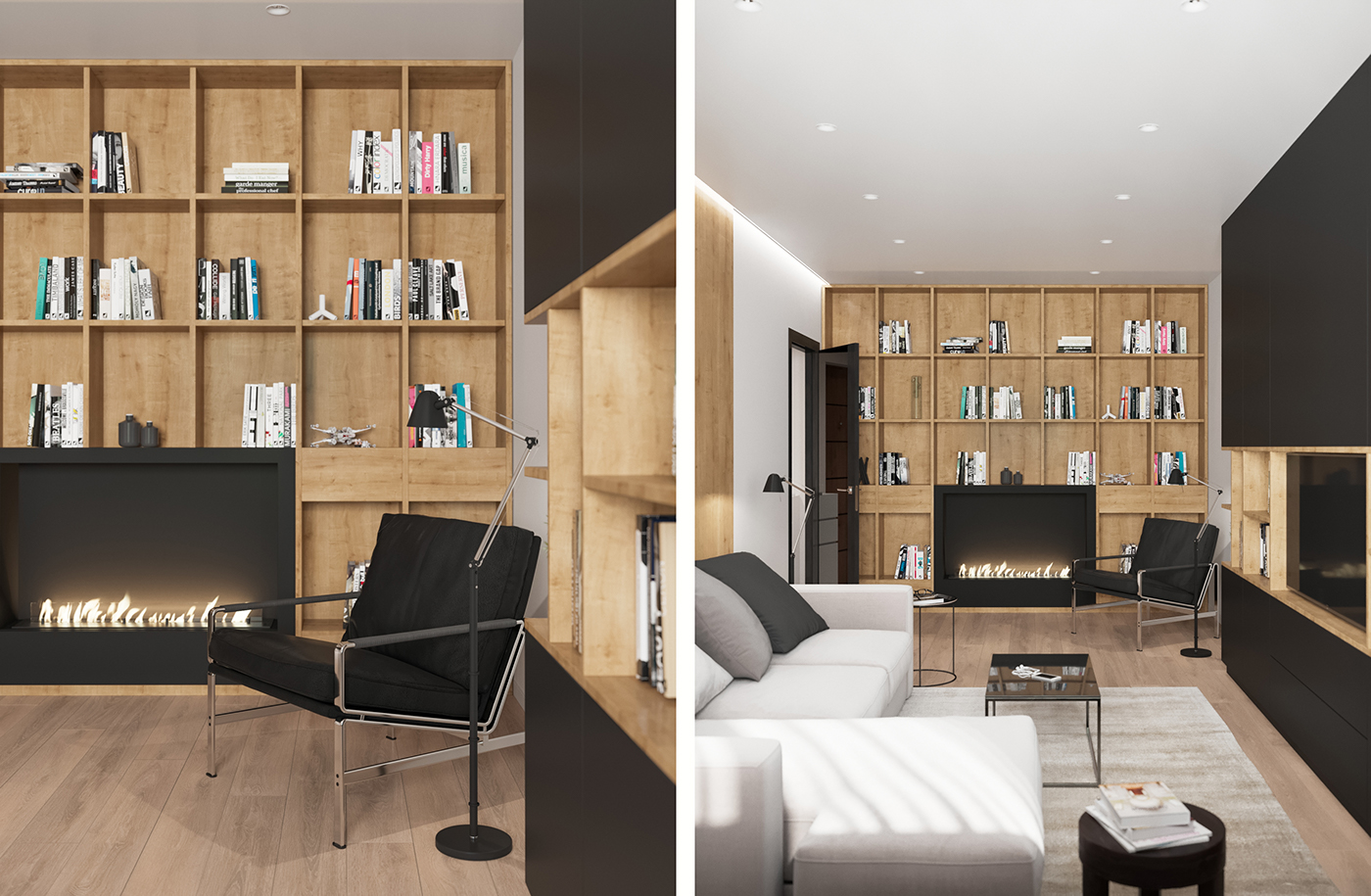 Black and Wood Apartment Shines with Mid-Century Modern Lighting 3 mid-century modern lighting Black and Wood Apartment Shines with Mid-Century Modern Lighting Black and Wood Apartment Shines with Mid Century Modern Lighting 3
