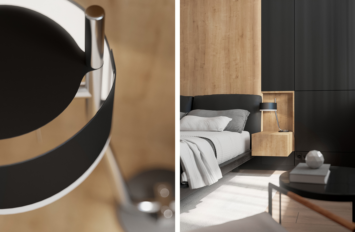 Black and Wood Apartment Shines with Mid-Century Modern Lighting 6 mid-century modern lighting Black and Wood Apartment Shines with Mid-Century Modern Lighting Black and Wood Apartment Shines with Mid Century Modern Lighting 6