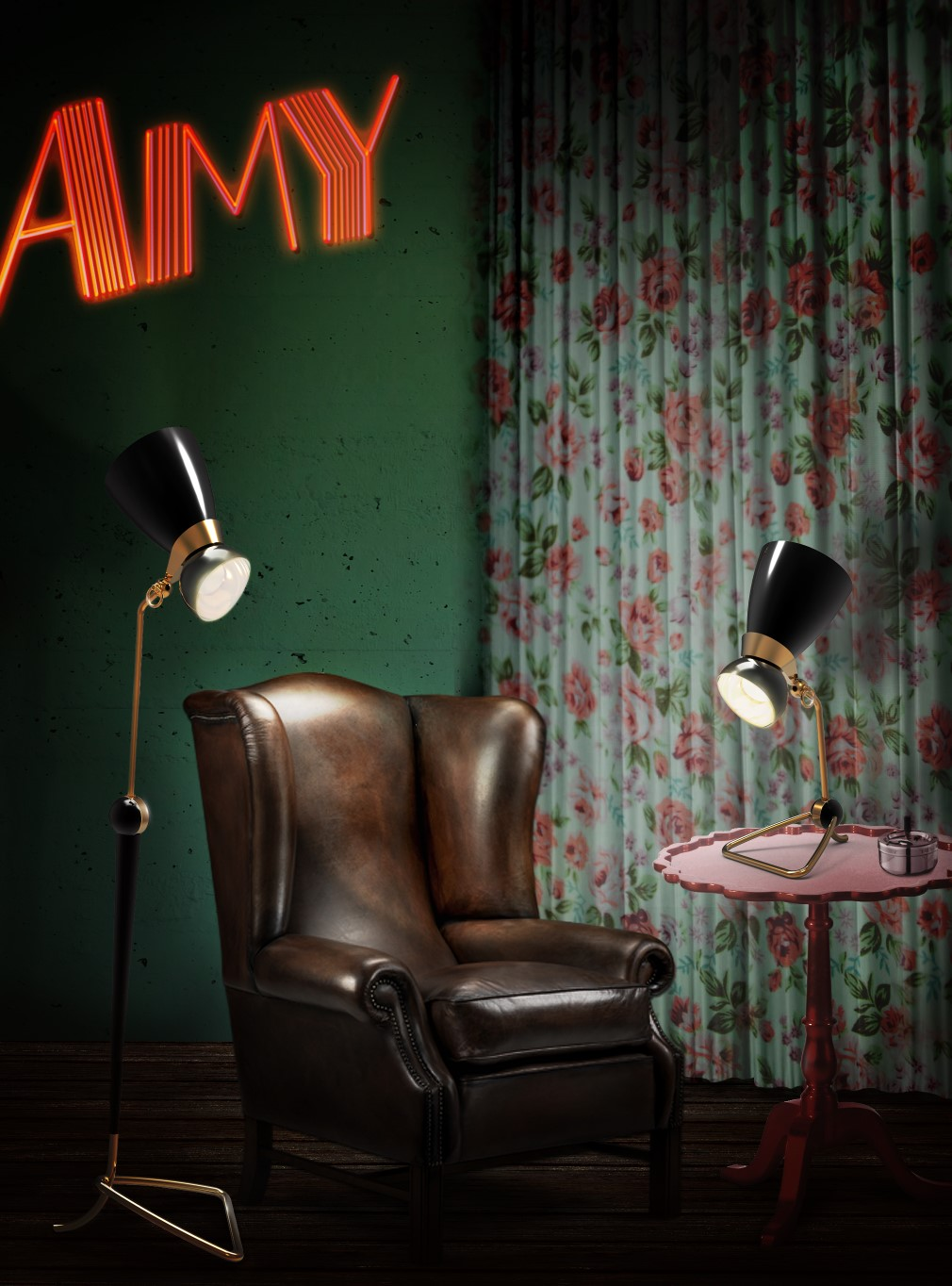 Amy Winehouse A Jazz icon transformed into a mid-century lighting design 31