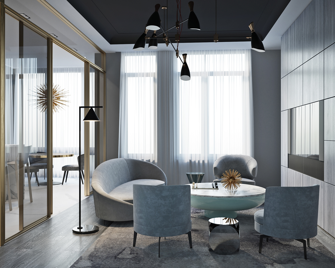 Shades Of Gray: Modern Interior Design In Moscow!