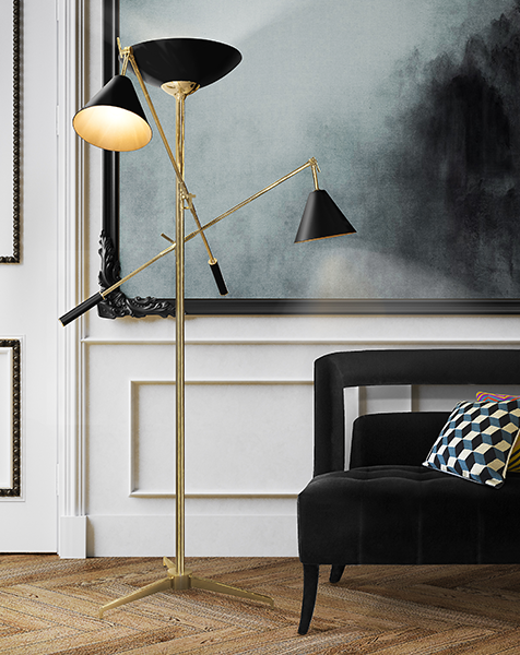 the black floor lamps to make a living room