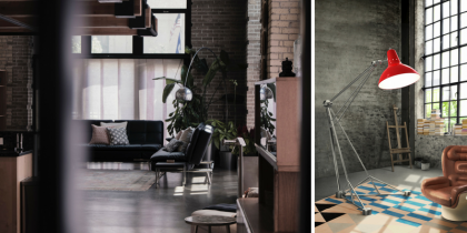 Find the perfect floor lamp for your industrial style home