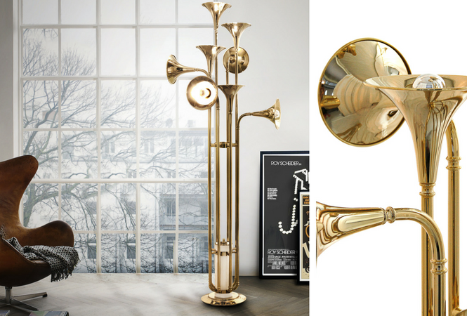 Let your home shine with your new golden floor lamp (3)
