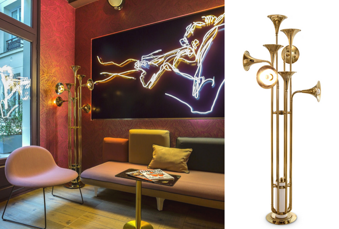 Let your home shine with your new golden floor lamp (4)