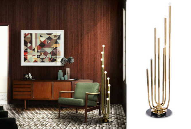 Let your home shine with your new golden floor lamp (5)