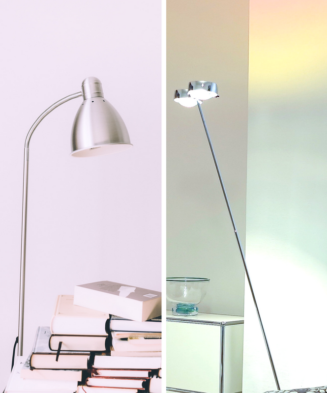 Get the monochrome trend with a silver floor lamp (4)