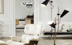 10 Bright Decor Ideas with Modern Floor and Table Lamps delightfull evans 3 lights vintage floor lamp 240x150