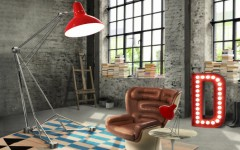 brick walls and floor lamps diana by delightfull
