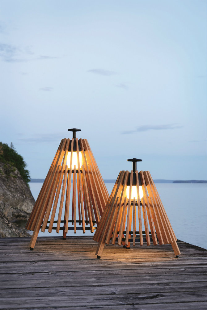Outdoor Floor Lamps To Use In A Deck Or Patio Teak Lamp Tipi By Skargaarden