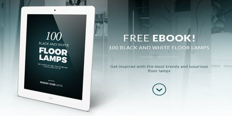 floor lamps 100 Black and White Floor Lamps: NEW & FREE EBOOK featured 100 Black and White Floor Lamps NEW FREE EBOOK 800x400