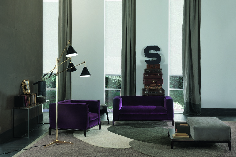 Sinatra Black Floor Lamp from DelightFULL