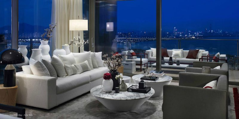 One Shenzhen Bay Luxury Homes with Modern Floor Lamps by Kelly Hoppen