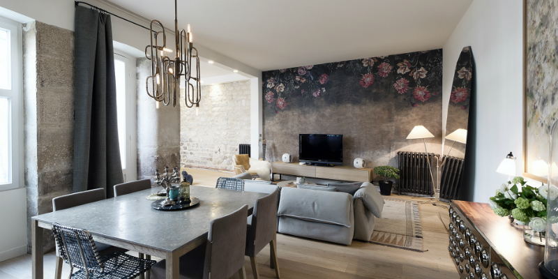 Mid-Century Lighting Brings Life to Apartment in Romantic Paris