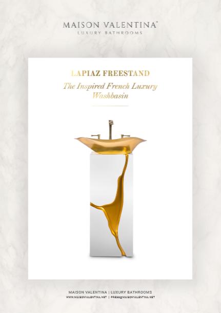 Lapiaz Freestand: The luxury french Luxury Washbasin Lapiaz