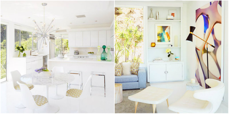 Mid-Century Modern Home Features Unique Lamps in Los Angeles FEAT