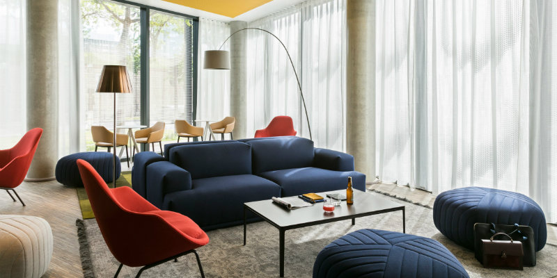 Colorful Okko Hotel Features Stunning Mid-Century Lighting Designs