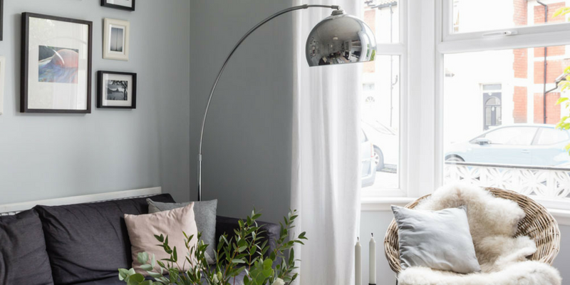 Get The Monochrome Trend With A Silver Floor Lamp!