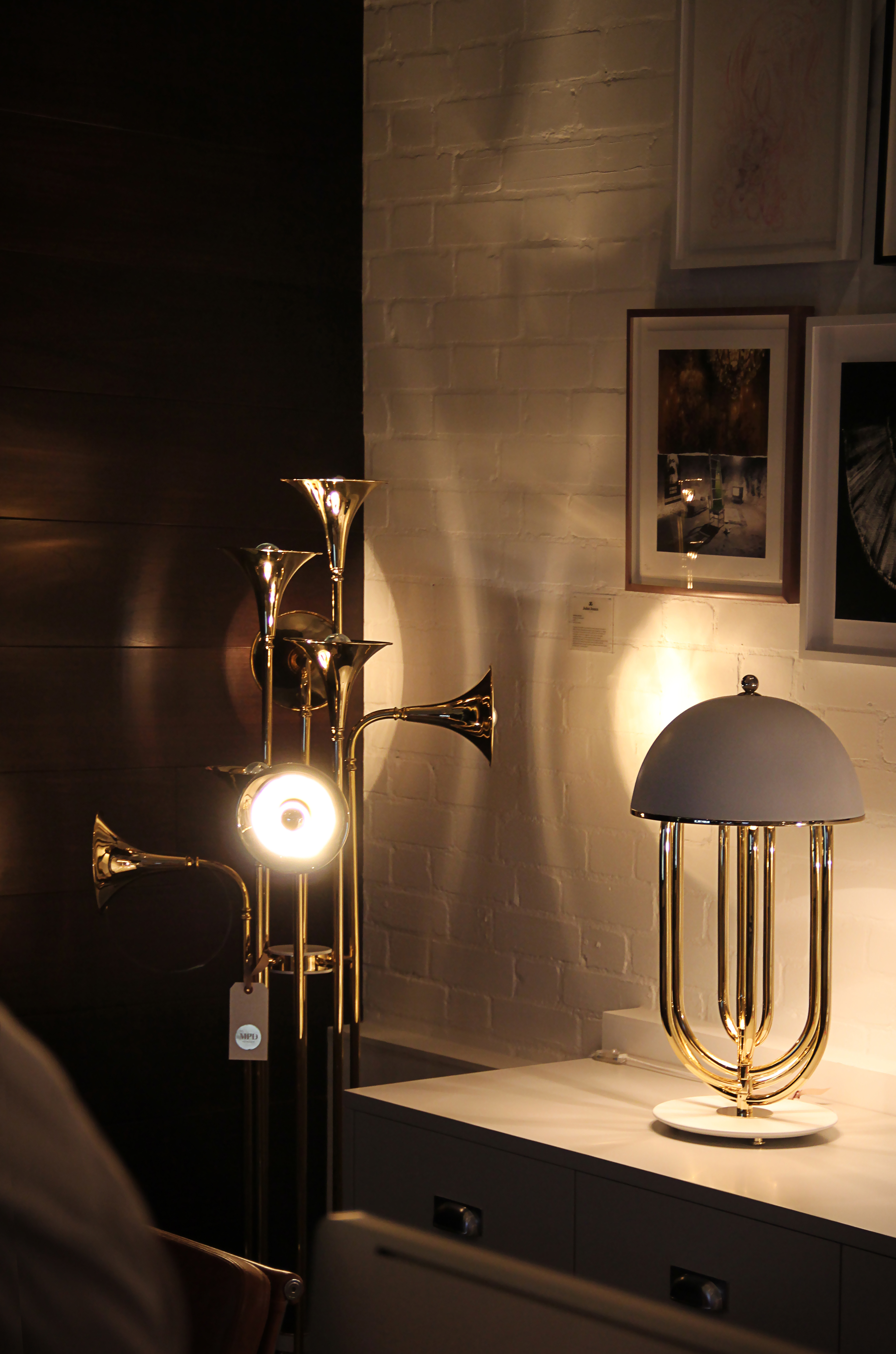 gold-plated floor lamp