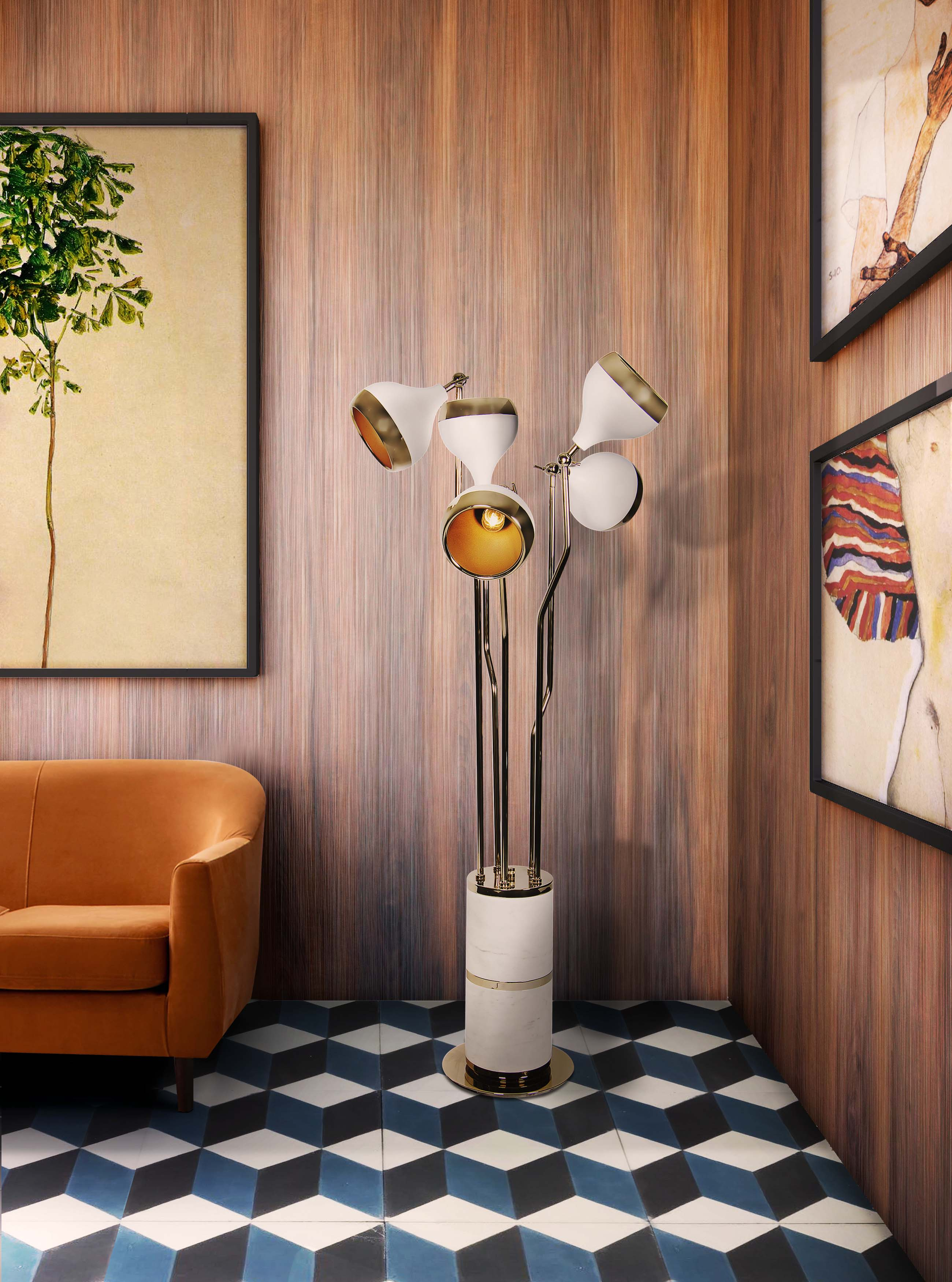 white finish Mid-Century Floor Lamps With White Finish For You! Mid Century Floor Lamps With White Finish For You 2