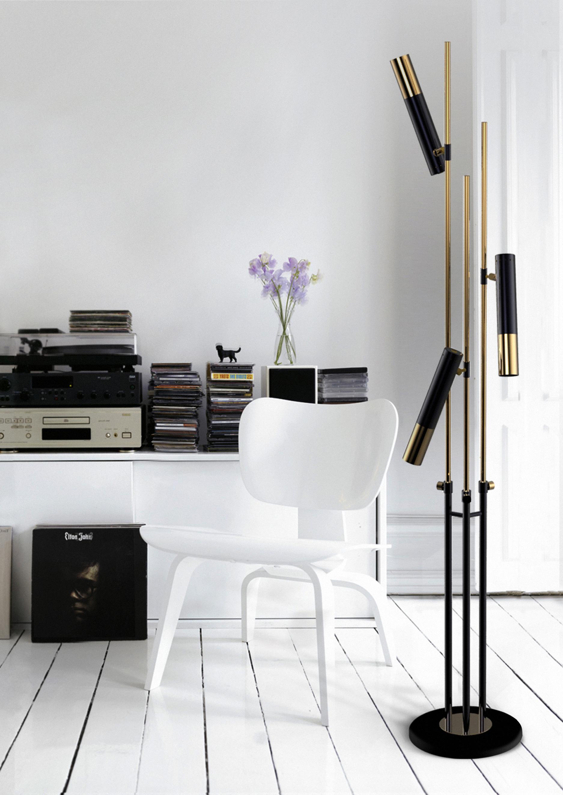 gold-plated matte white finish