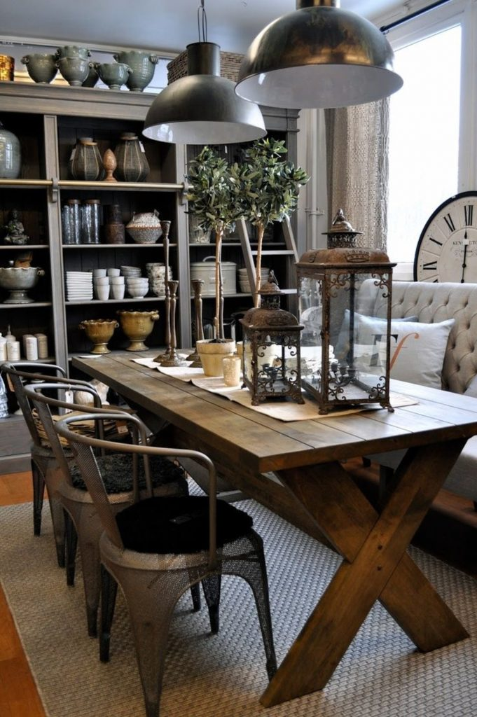 industrial dining room industrial dining room Industrial Dining Room Is This Week's Trendy Topic! Industrial Dining Room Is This Weeks Trendy Topic1 681x1024