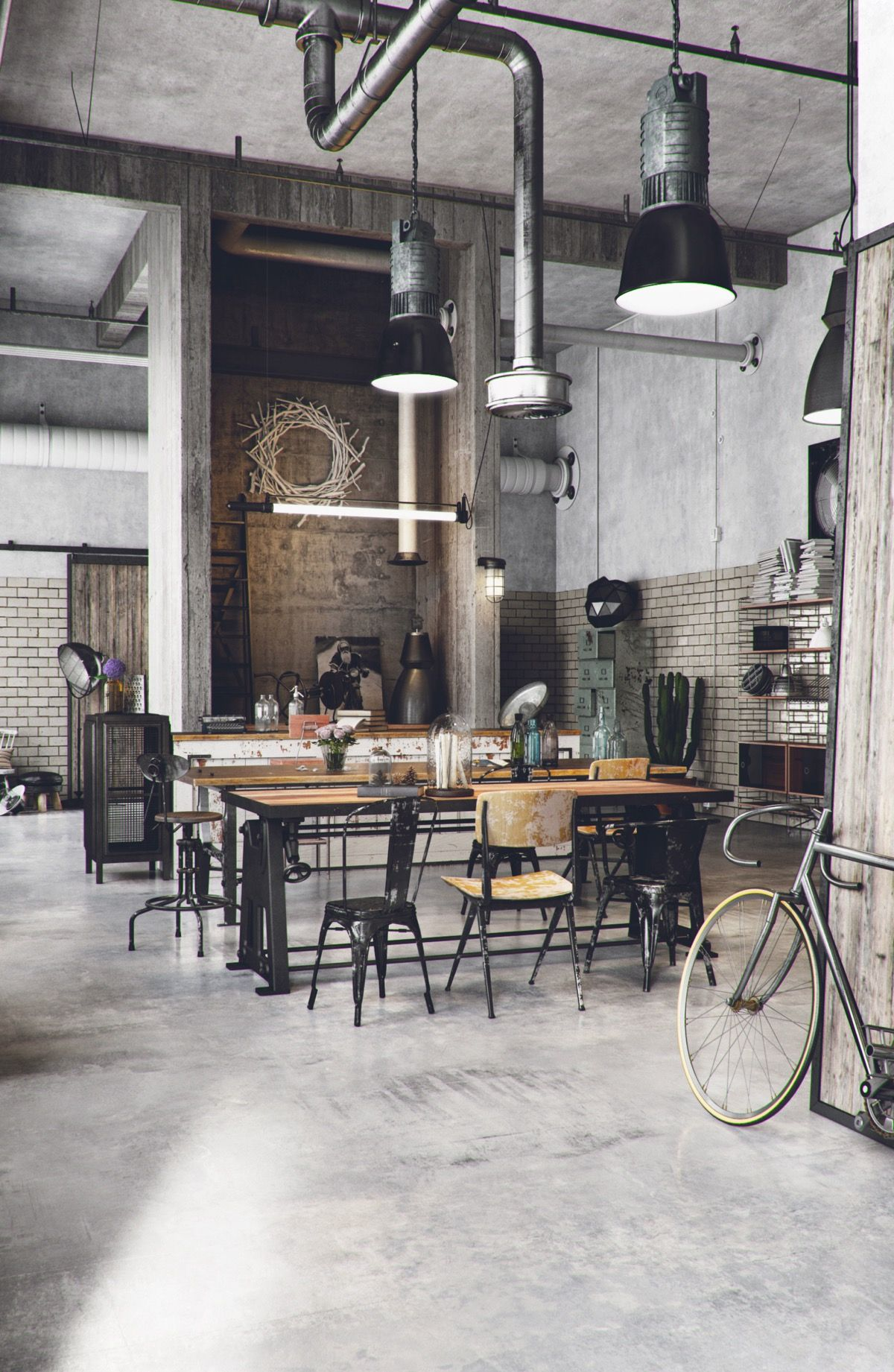 industrial style dining room What's Hot On Pinterest Industrial Style Dining Room! Whats Hot On Pinterest Industrial Style Dining Room2