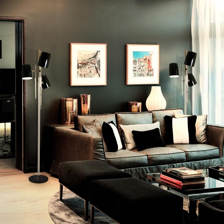 triple lampshade Best Mid-Century TripleLamp Shade Floor Lamps! cole floor image7