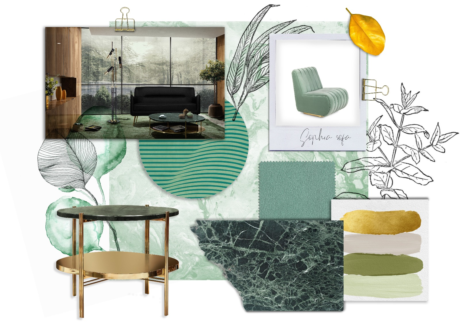 mint flavored moodboards Mint Flavored Moodboards For Your Modern Home Décor! EH Moodboard 1 Mint Velvet
